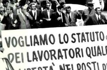 Lavoratori in sciopero anni'50