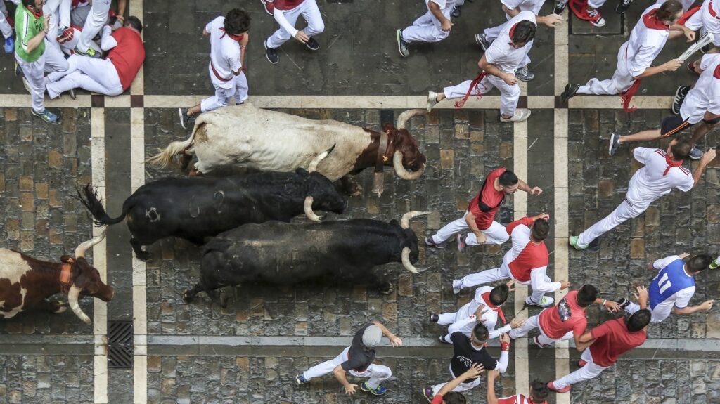 Pamplona - corsa dei tori di San Firmino
